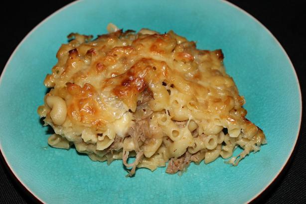 Braised Pork Macaroni Casserole