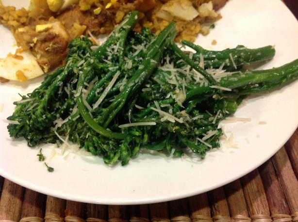 Sauteed Broccoli Rabe With Parmesan & Garlic