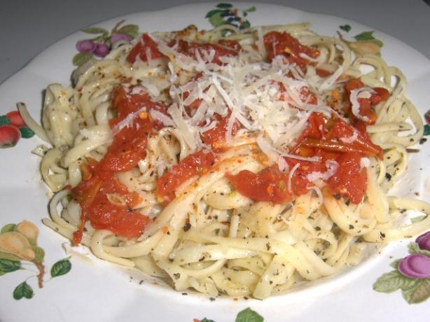 Mediterranean Pasta With Fire Roasted Tomatoes