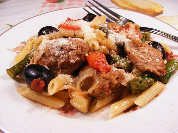 Sweet Sausage Mediterranean Penne Pasta