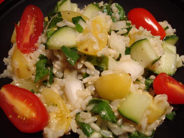 Summery Brown Rice Salad With Fresh Herbs