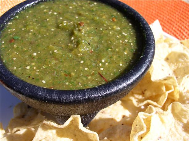 Smoky, Spicy Tomatillo Salsa Verde Aka Green Hell!