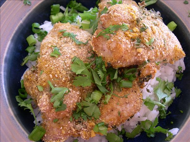 Spicy Thai Curry Chicken Encrusted With Peanuts