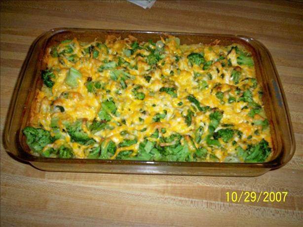 Too Easy Cheesy Chicken, Broccoli and Rice Casserole