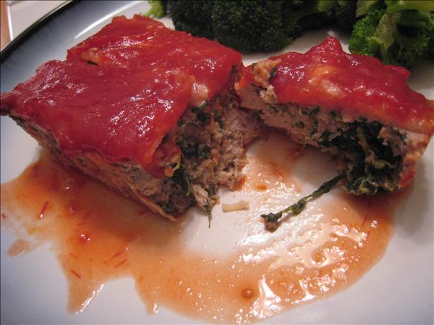 Turkey Meatloaf With Spinach and Bacon