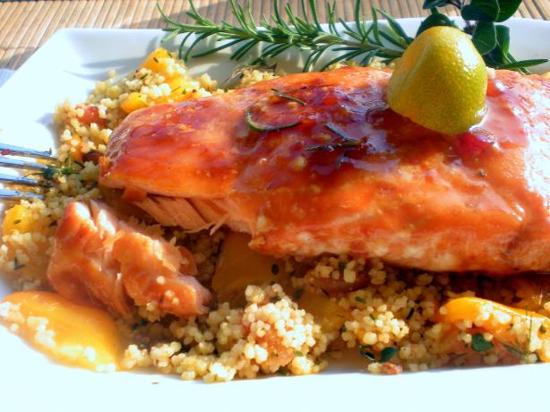 Maple Balsamic Glazed Salmon