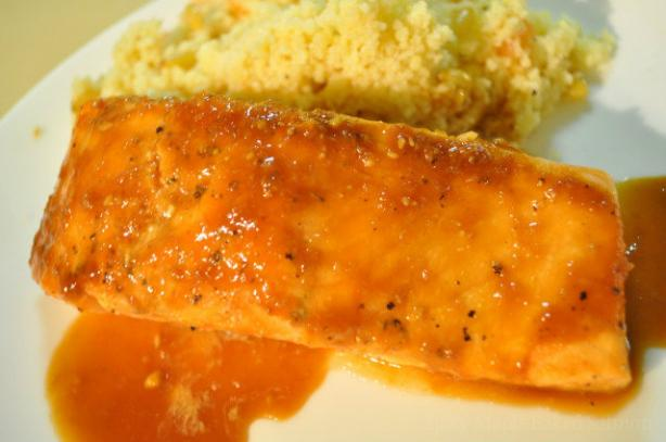 Spicy Maple Baked Salmon