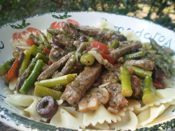 Beef and Asparagus Pasta