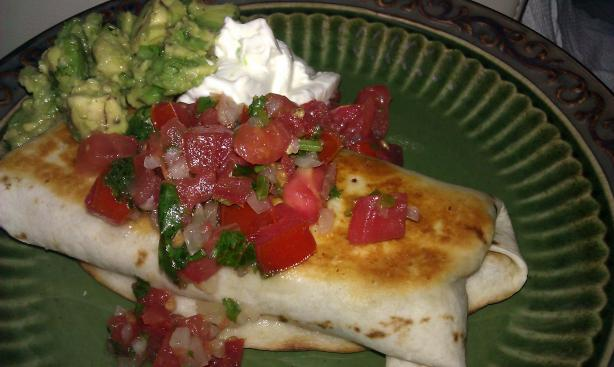 Refried Bean and Cheese Chimichangas