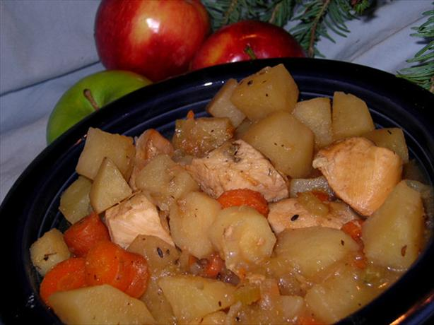 Crock Pot Apple Chicken Stew (Low Fat)
