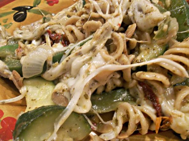 Sassy Pesto Pasta and Veggies