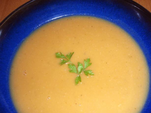Roasted Sweet Potato and Corn Soup