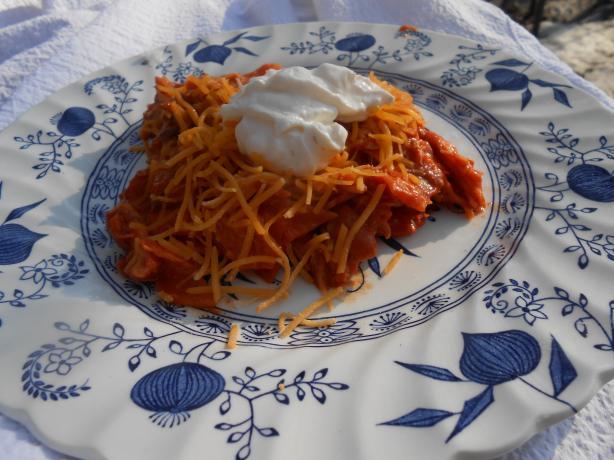 Skillet Chicken and Cheese Enchiladas