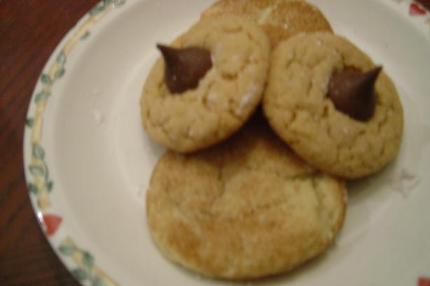 Chocolate Kiss Peanut Butter Cookies
