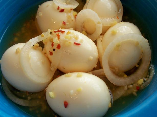Pickled Cluckerberries (Eggs)