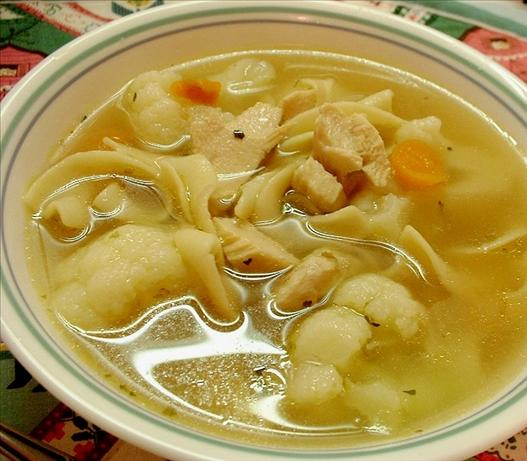 Chicken, Vegetables, and Pasta Soup