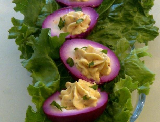 Southern-Style Beet Pickled Deviled Eggs