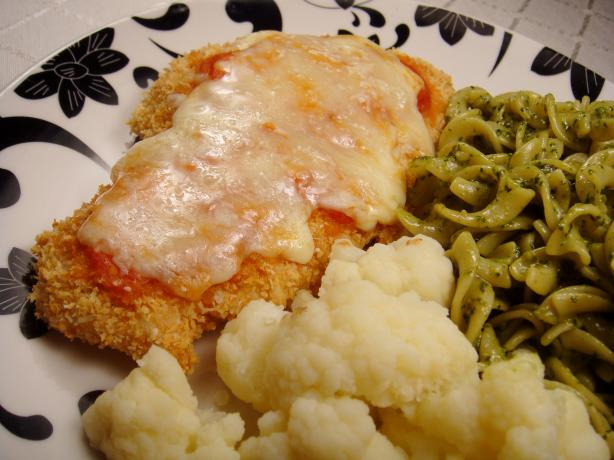 Lighter Chicken Parmesan With Simple Tomato Sauce