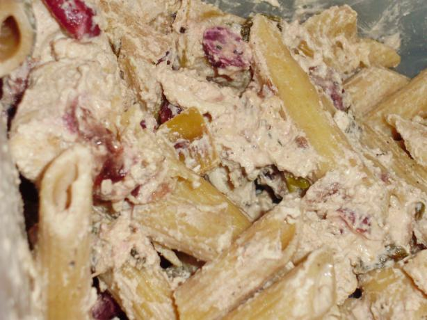 Healthy Low-Fat Creamy Chicken Cranberry Apple Pasta