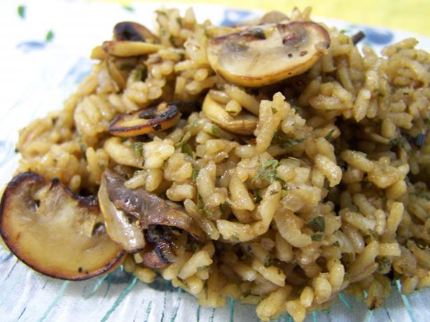 Mushroom Rice With Onion & Shallots