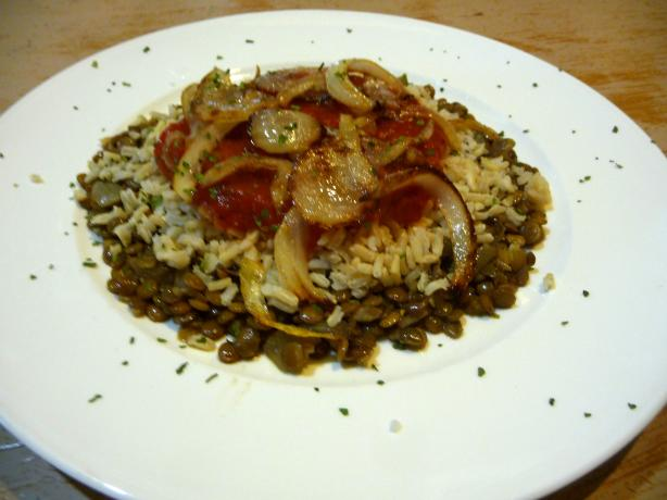 Lentils With Wild Rice & Crispy Onions (Koshari)