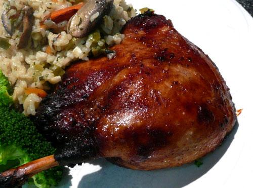 Asian Style Oven Baked Duck Legs