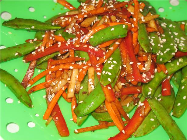 Sugar Snap Pea Salad With Ginger Soy Dressing