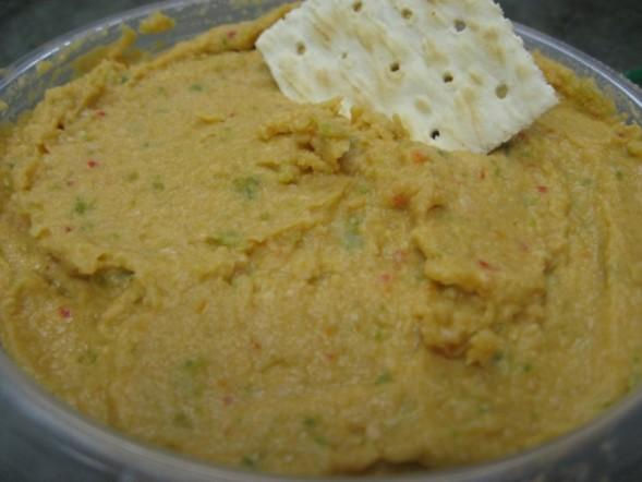 Spicy Red Pepper and Jalapeno Hummus