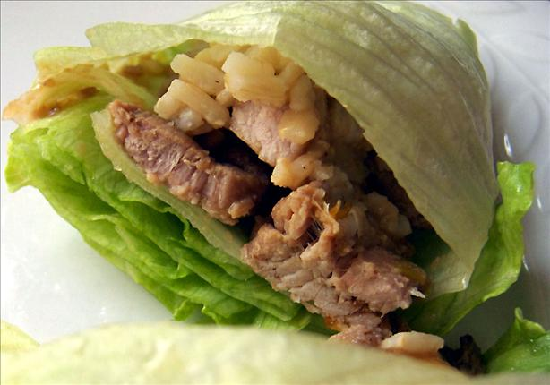 Vietnamese Pork and Scallion Lettuce Wraps