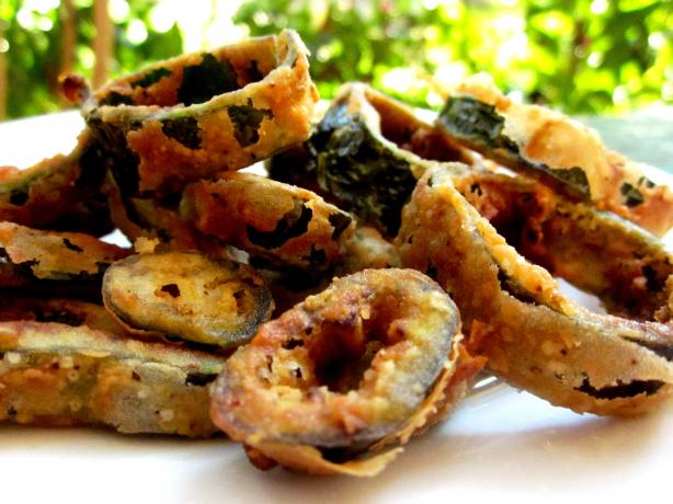 Fried Poblano Pepper Rings