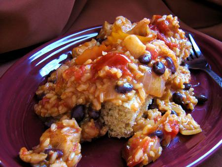 Pork and Brown Rice Green Chile Casserole