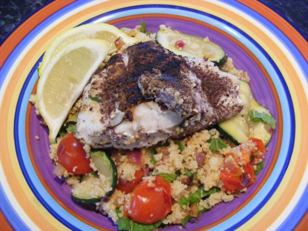 Sumac Fish & Couscous Salad (21 Day Wonder Diet: Day 3)