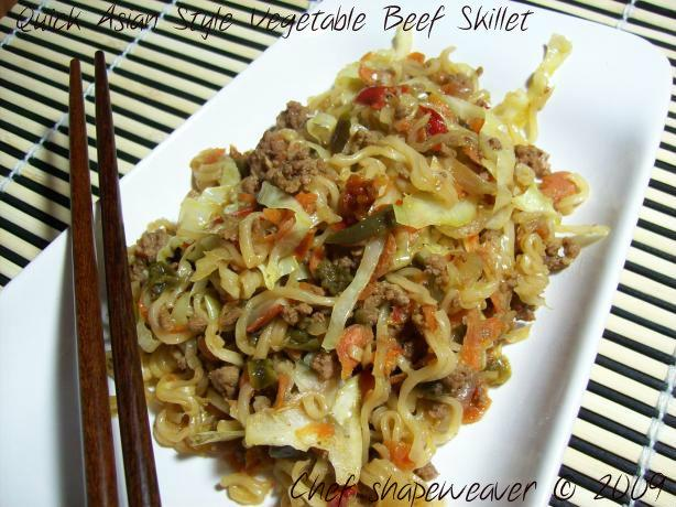 Quick Asian Style Vegetable Beef Skillet