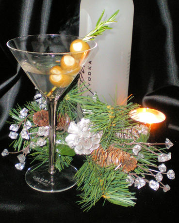 Garlic Rosemary Mashed Potato Martini