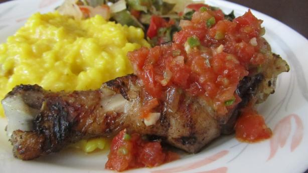 Pollo Asado Con Llajua (Cumin-Grilled Chicken With Spicy Salsa)