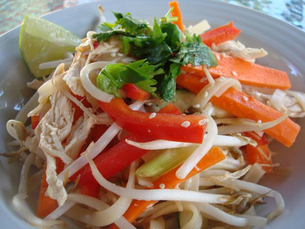 Thai Chicken Noodle Salad (Gluten Free)