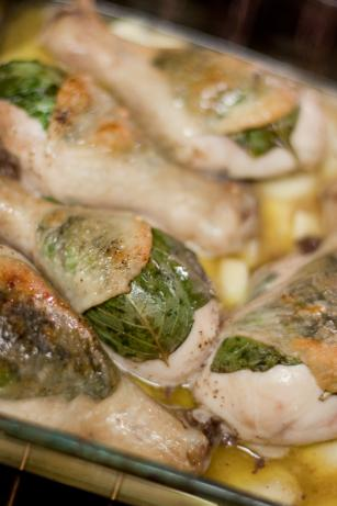 Roast Chicken Legs With Basil and Garlic-Core Ww Friendly