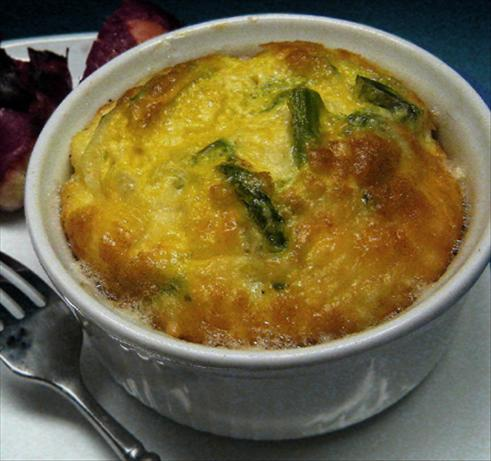 Low Fat Cheese and Asparagus Soufflé