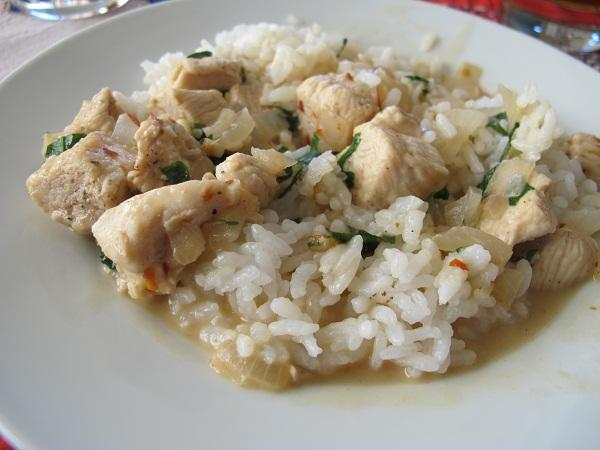 Thai Chicken With Basil and Coconut Milk