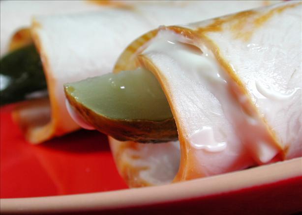Turkey Pickle Roll Ups