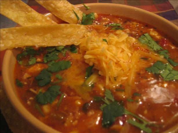 "Chicken Tortilla Soup With ""the Works!"""