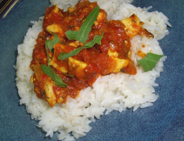 Indonesian Chicken in Galangal-Tomato Sauce