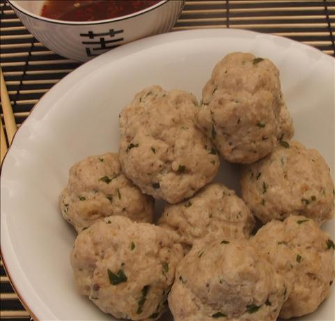 Steamed Thai Chicken Balls.