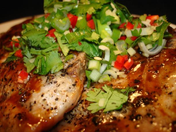 Hoisin Glazed Pork Chops With Thai Power Pack
