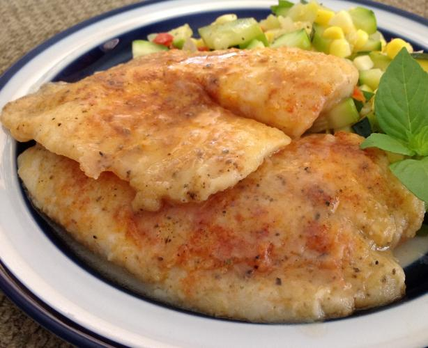 Light Sauteed Tilapia With Lemon Broth