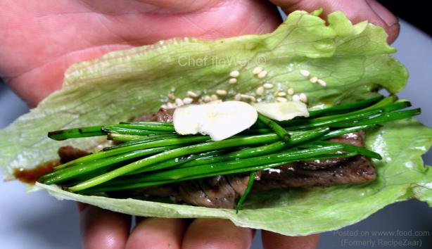 Bangja Gui (Korean BBQ Beef in a Lettuce Wrap)