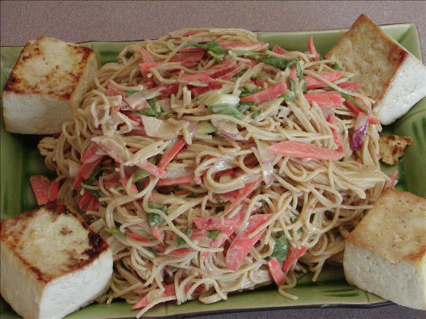 Tofu and Noodle Salad With Peanut Sauce