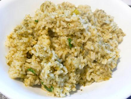 Mexican Green Rice(Vegetarian)