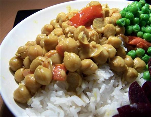 Garbanzos in Coconut Milk
