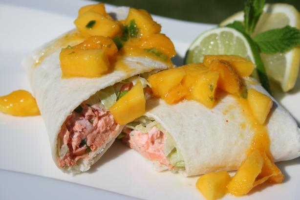 Salmon Fajitas With Mango Salsa